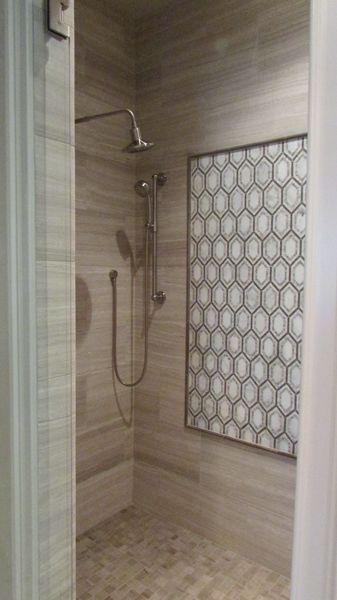 Tiled Shower With Accent Frame Tile And Installation By Exact Tile Inc Shower Tile Tile Design Design