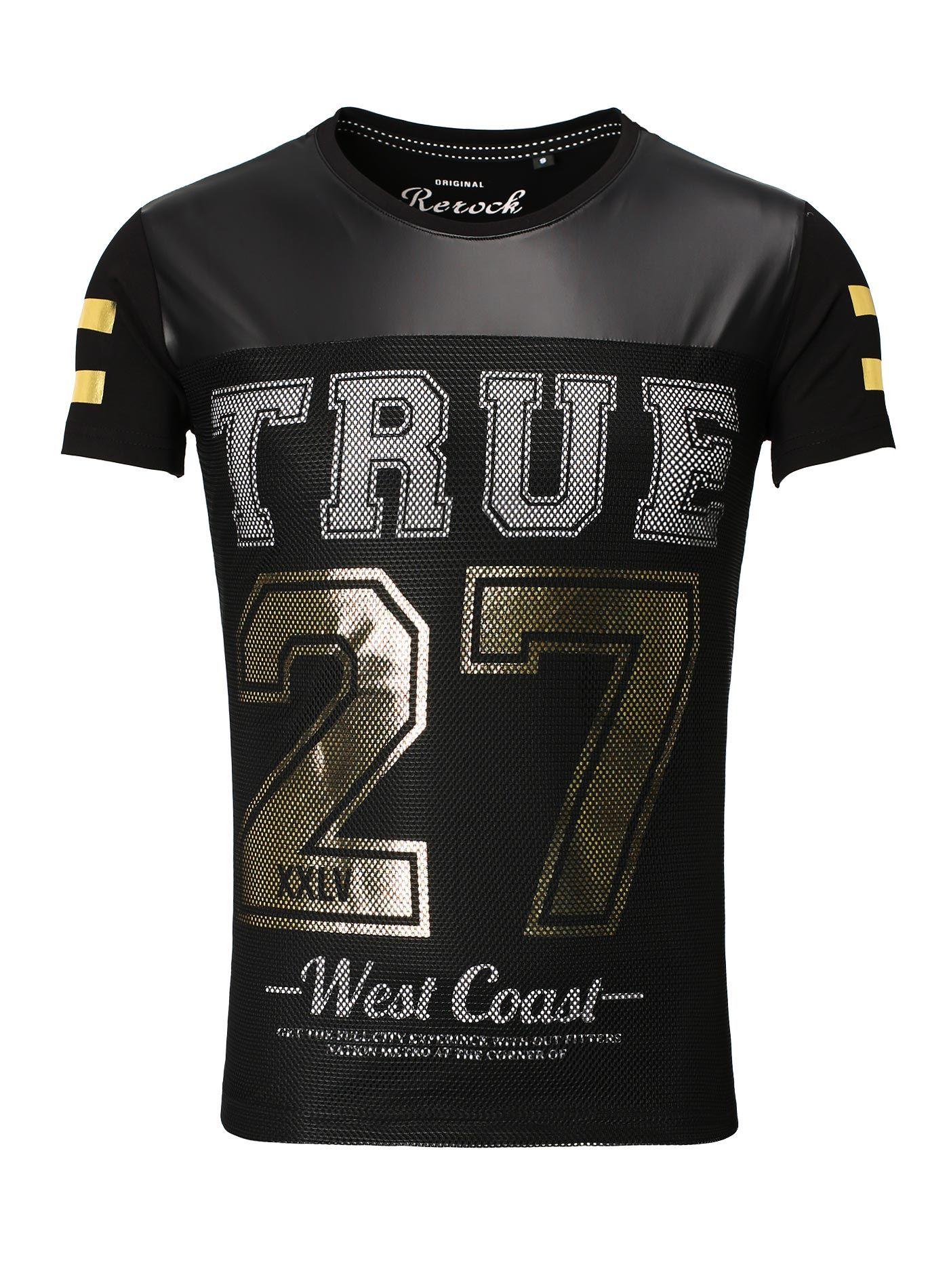 T-Shirt Men Print ReRock black
