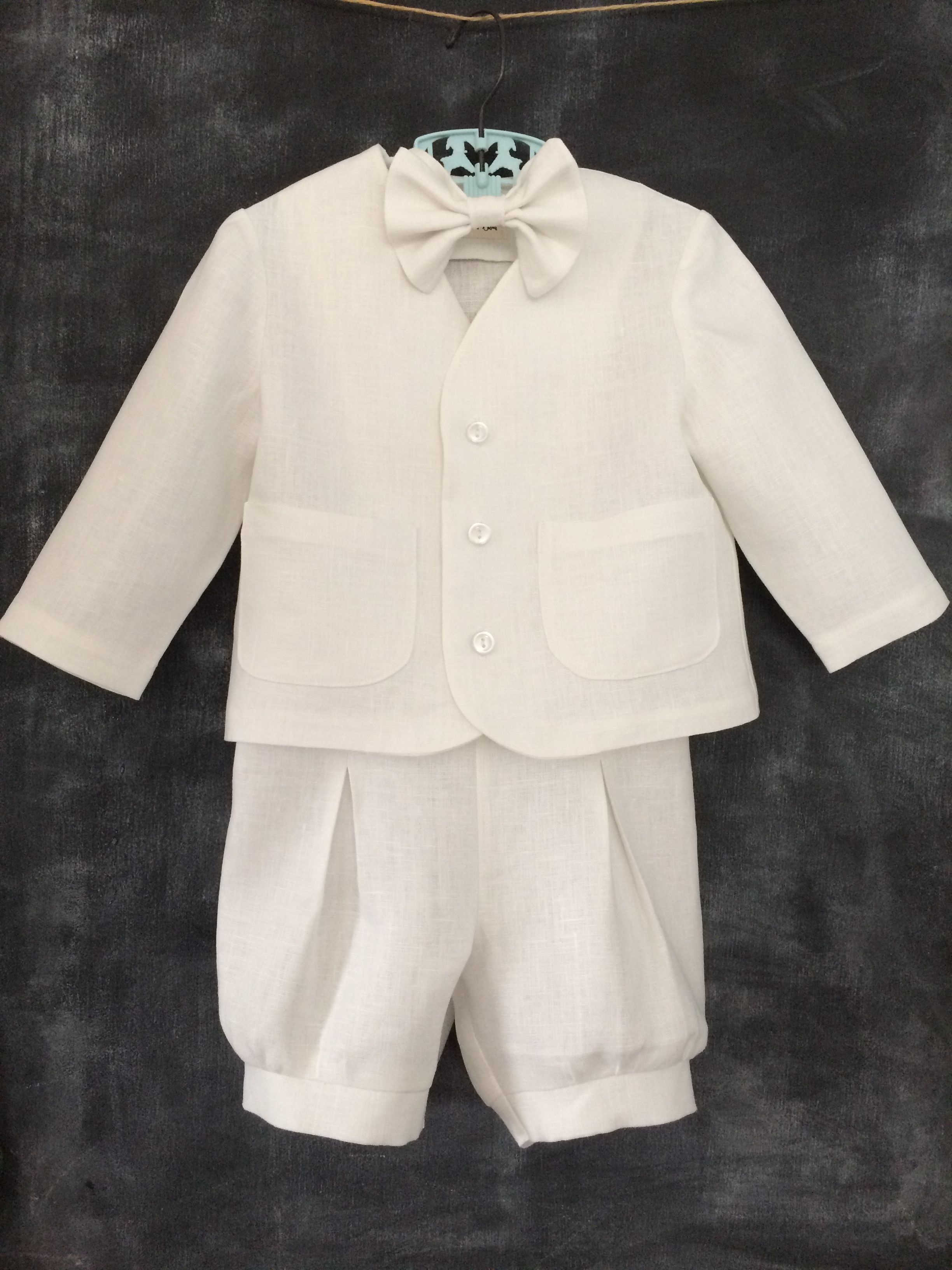 6e241d365 Baby/Toddler White Linen Baptism Outfit - babysuzannajohanna/etsy ...