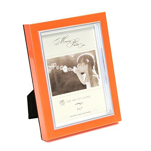 Maxxi Designs Photo Frame With Easel Back 8 X 10 Tangerine Macaron With Images Photo Frame Design Picture Frame Sizes Picture Frame Colors