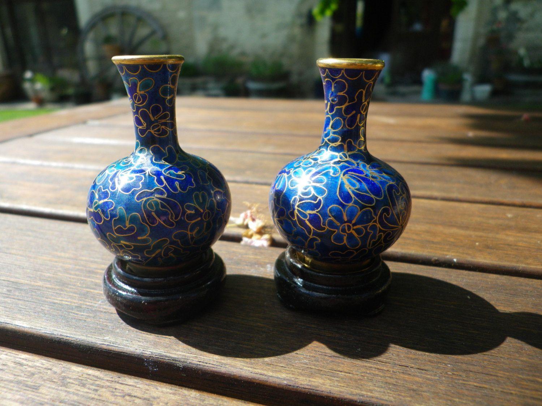 Miniature cloisonne vase set small blue enamel vases gilded miniature cloisonne vase set small blue enamel vases gilded design vases chinese vase reviewsmspy