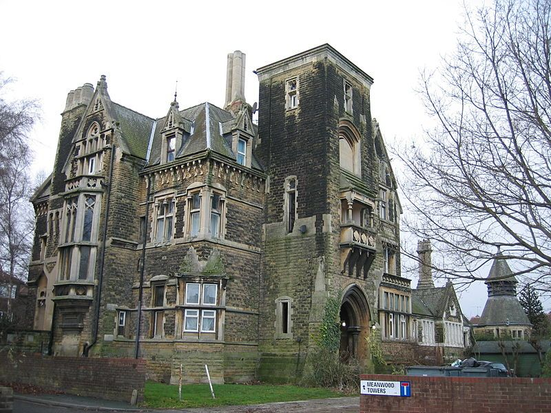 Victorian Gothic House meanwood towers - a victorian gothic house built in 1866 - 1867