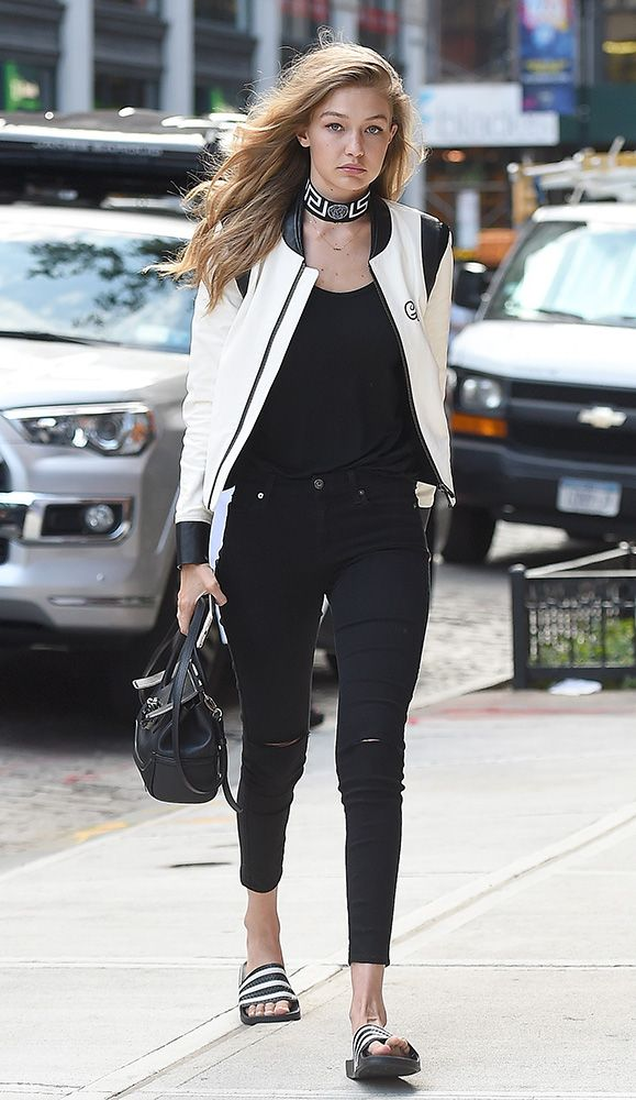 ce536b1c22 Just Can t Get Enough  Gigi Hadid and Her Versace Palazzo Empire Bag ...