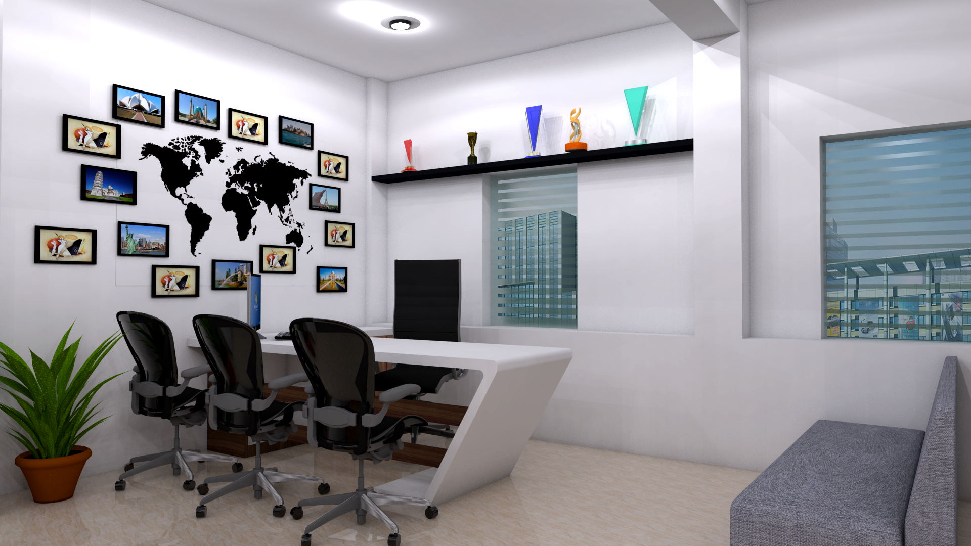 Tours And Travels Office Design Cafe Interior Design Cafe