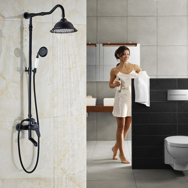126 90 Single Handle In Wall Outdoor Shower Faucet Set 8