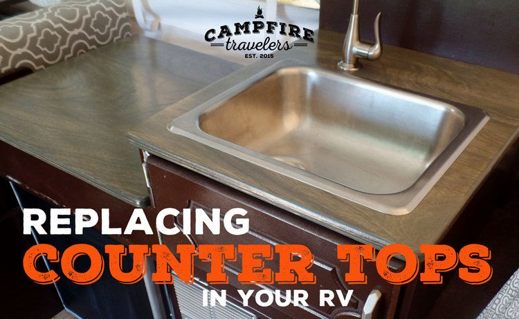 Replacing Rv Counters With Images Popup Camper Remodel