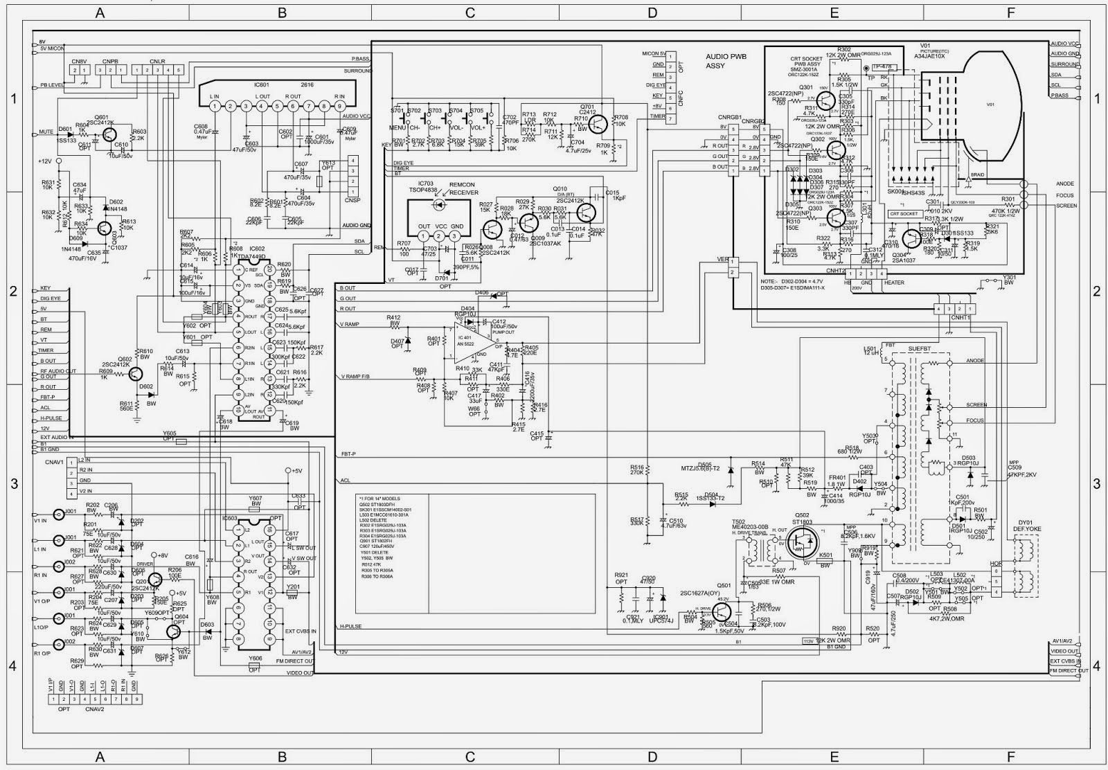 Tv Schematic Diagrams Circuits Car Wiring Explained Electronics Repair Made Easy Chanwong Tvchina See Circuit Below Image Result For Samsung Diagram Projects To Try Rh Pinterest Com Block