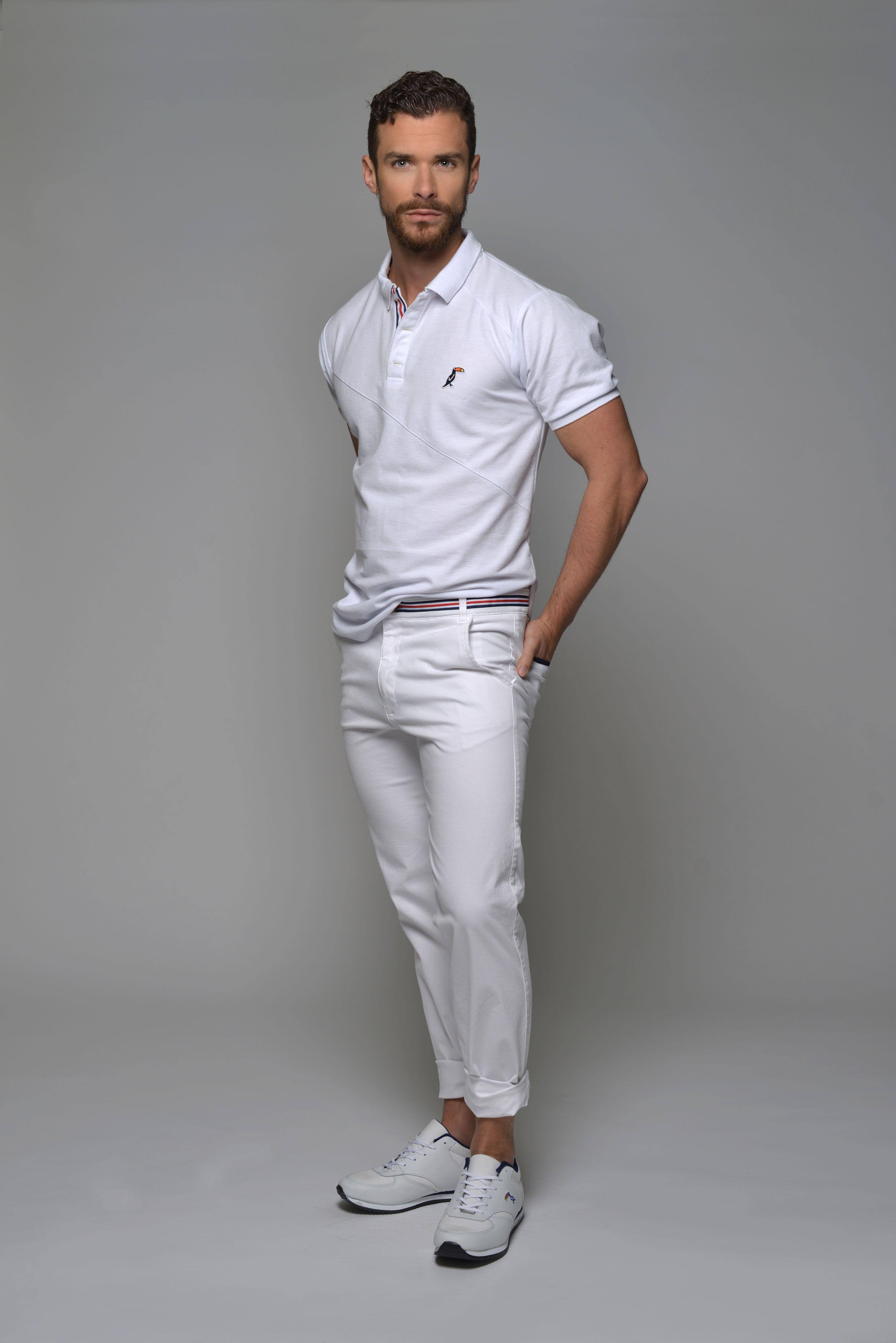 Look Polo Cambridge Blanco Pantalones Hamptons Blanco Tennis