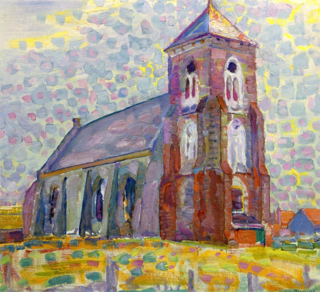 Piet Mondrian - Church in Zoutelande, 1909