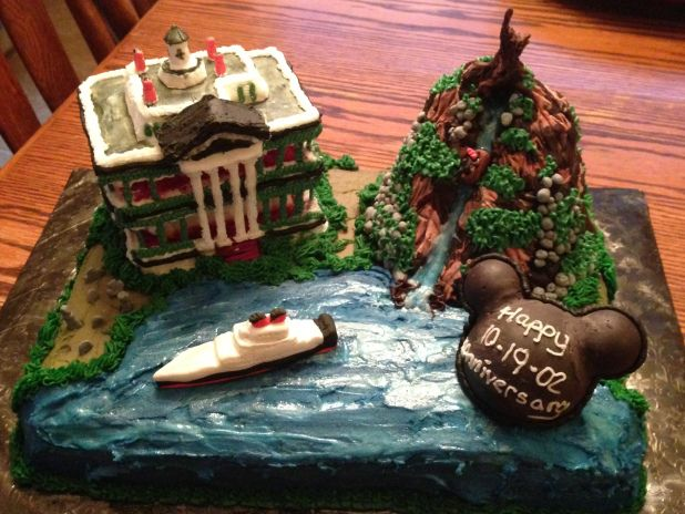 Disneyland haunted house cake