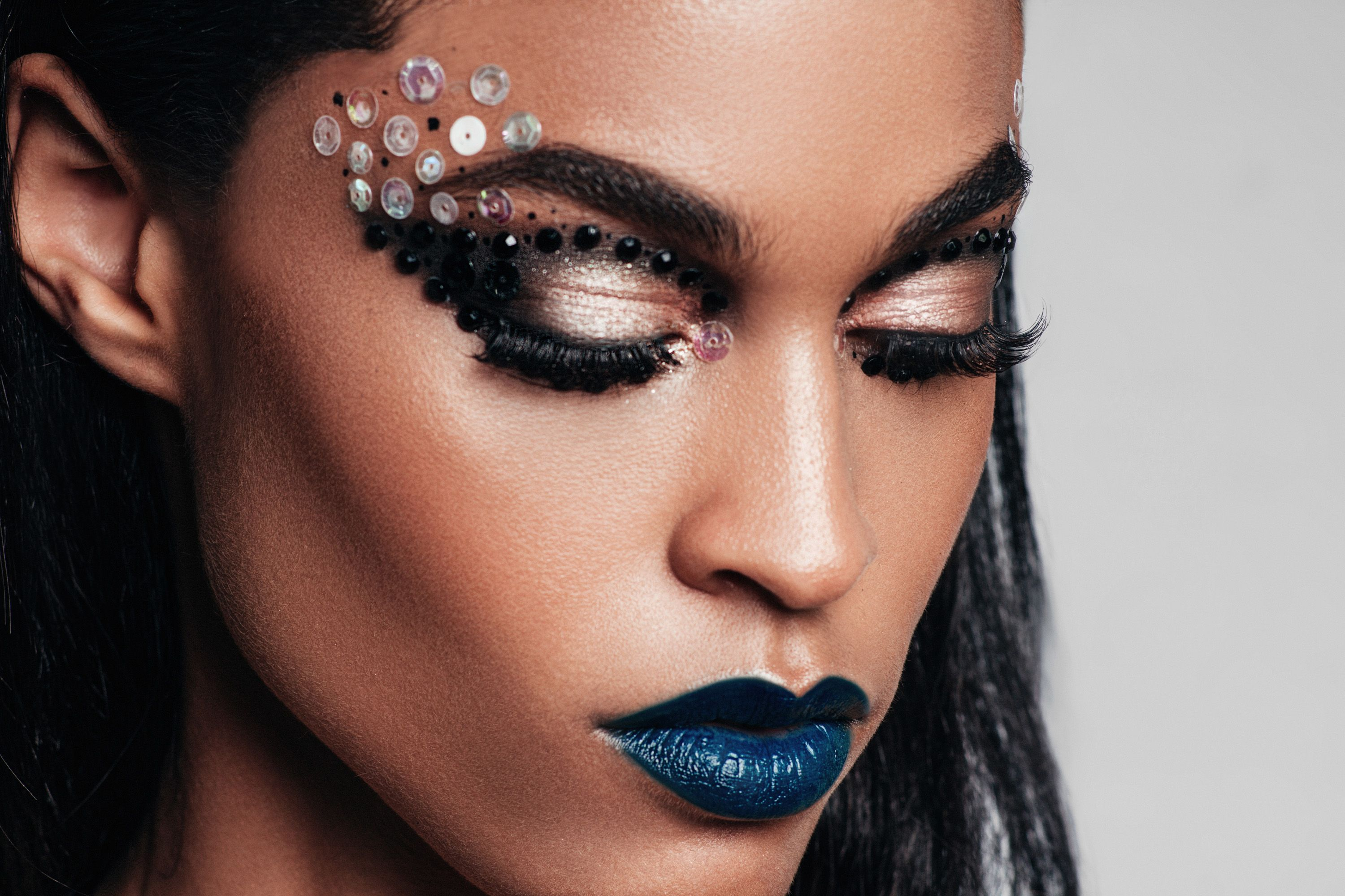 Another Angle Of This Creative Makeup Look For The Editorial