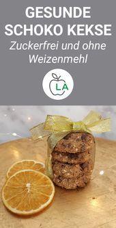Gesunde Schoko Kekse - Schnelles Fitness Rezept zum Abnehmen -  - #abnehmen #FITNESS #gesunde #Kekse...