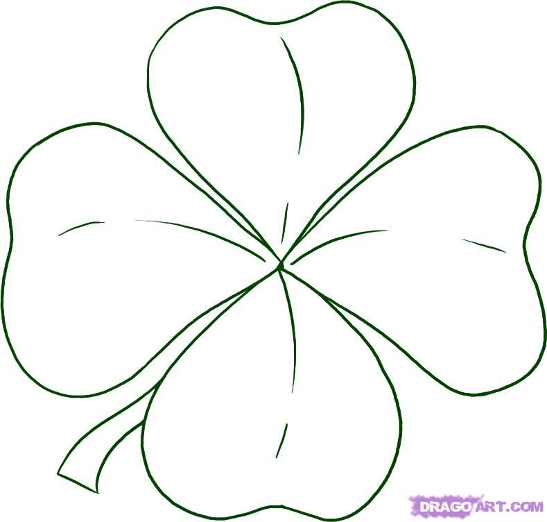 Simple Drawing Of Four Leaf Clover Google Search Drawings