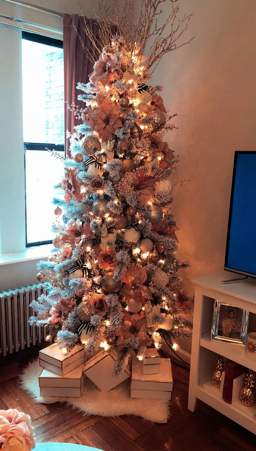 Christmas Tree Skirt Crate And Barrel Behind Christmas Tree Clearance Hobby Rose Gold Christmas Tree Pink Christmas Tree Decorations Christmas Tree Inspiration