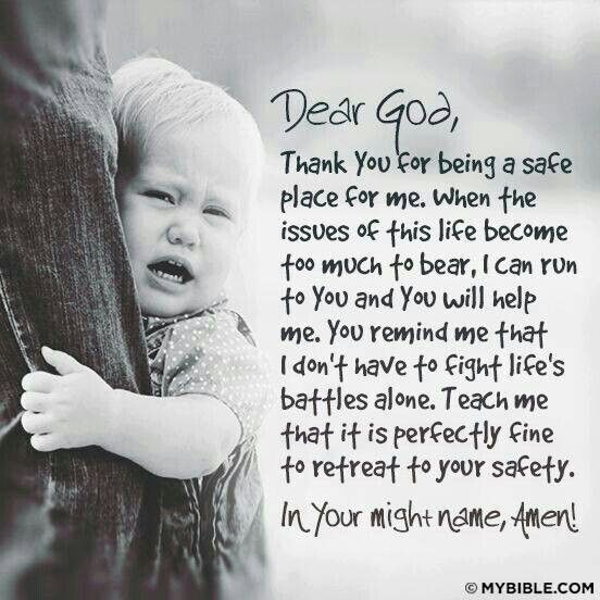 Prayer for children (helping them to Know, Believe & Trust God