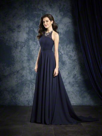 a3238ec5d5e29 Annelise's Bridesmaid dress - Alfred Angelo Bridal Style 8108L from All Bridesmaid  Dress Collections. Style 8108L Chiffon floor length gown ...