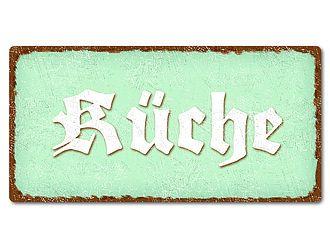 Dekoschild im Vintage Style mit Wunschtext 200 x 100 mm mint - Hausnummern und Schilder online kaufen