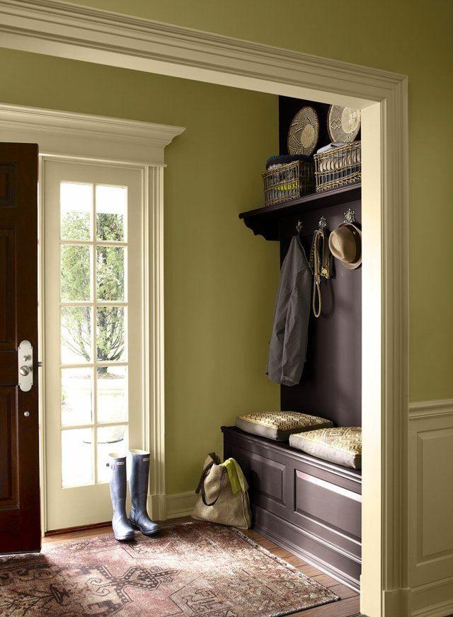 Déco entrée maison, cage du0027escalier et couloir en 32 idées Color - deco peinture entree couloir