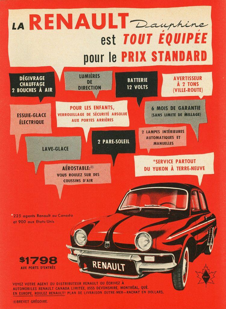 1960 Renault Dauphine Ad 1 Renault Racing Posters Vintage Ads