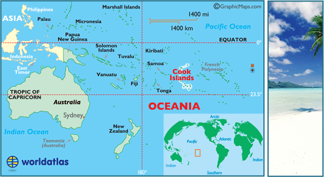 Cook Islands Map Geography Of The Cook Islands Map Of