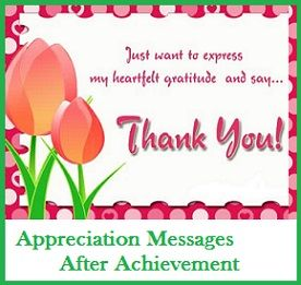 Appreciation Messages : After Achievement | Appreciation ...