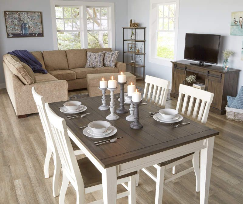 Stratford Caylie Farmhouse Dining Table Big Lots In 2021 Farmhouse Dining Table Dark Wood Dining Table Decor Farmhouse Dining Room Table