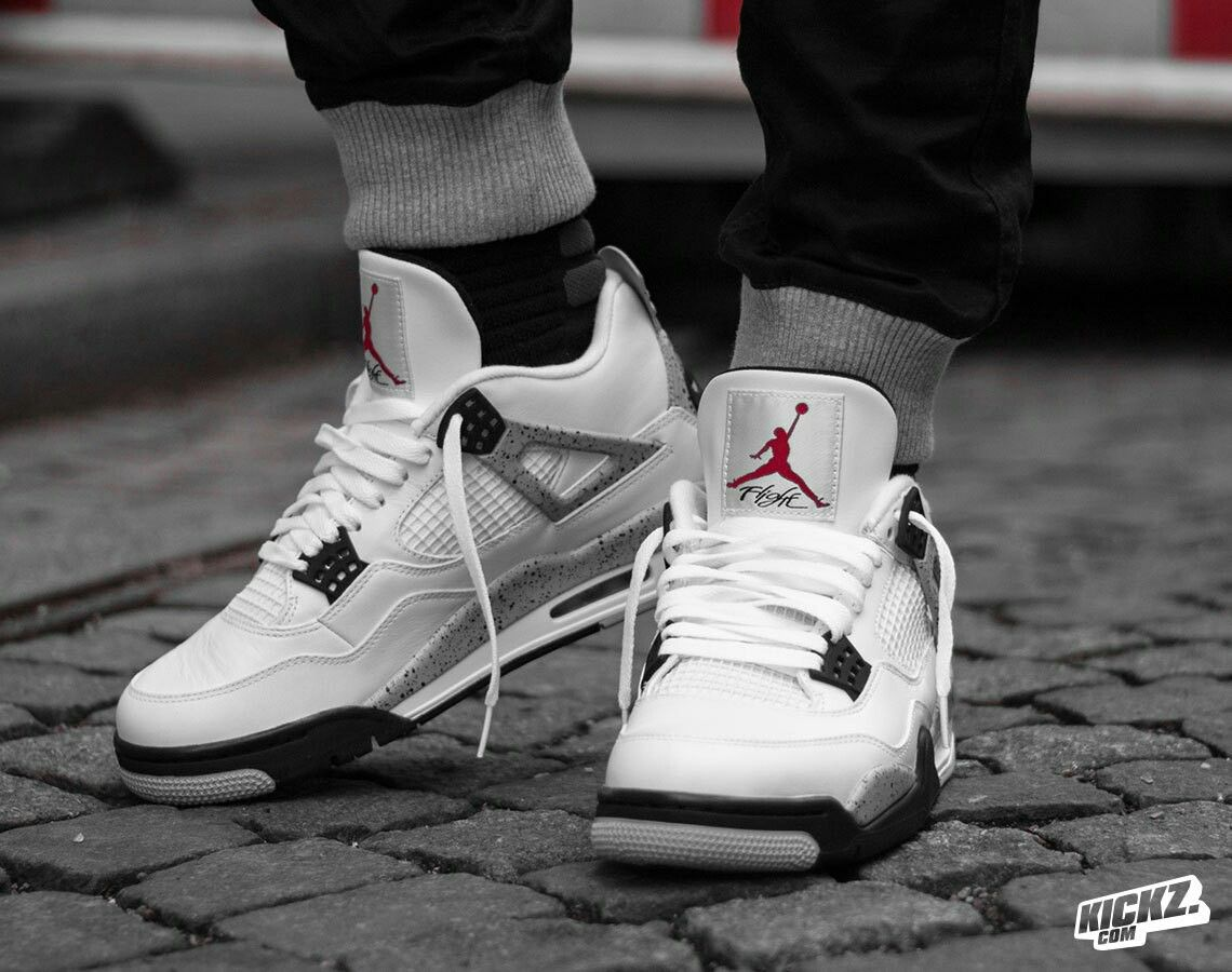 competitive price 65b04 eb3fa Air Jordan 4 white cement