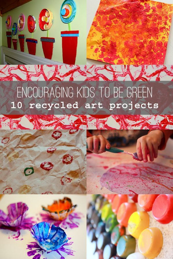 Recycled Craft Ideas For Kids Part - 35: Encourage Kids To Be Green: 10 Recycled Art Projects For Kids