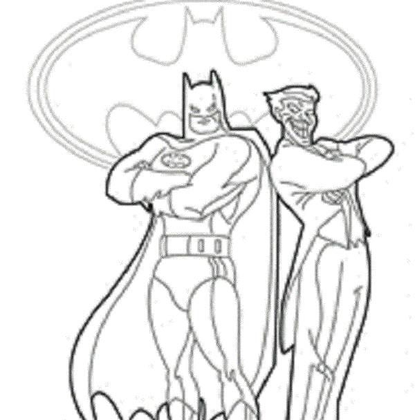 Batman Fighting Joker Coloring Pages