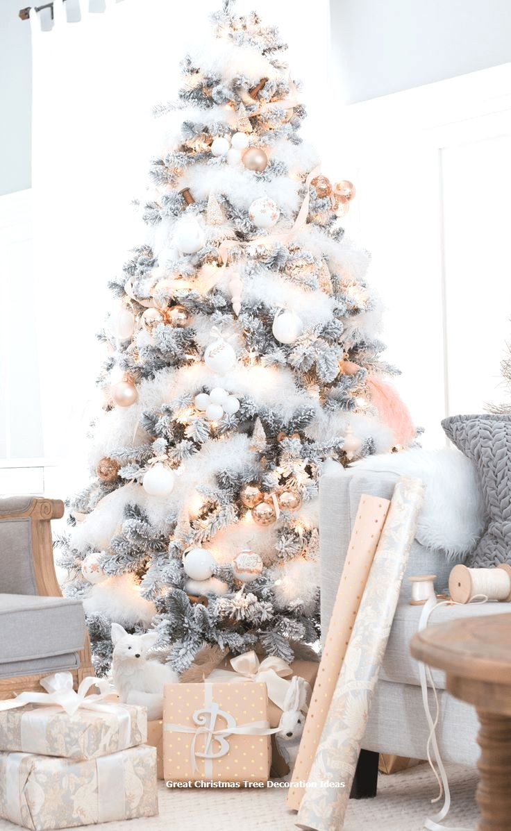 Flicked Christmas Tree Decorations 2020 Lovely Christmas Tree Decoration Ideas #xmastree in 2020 | Elegant
