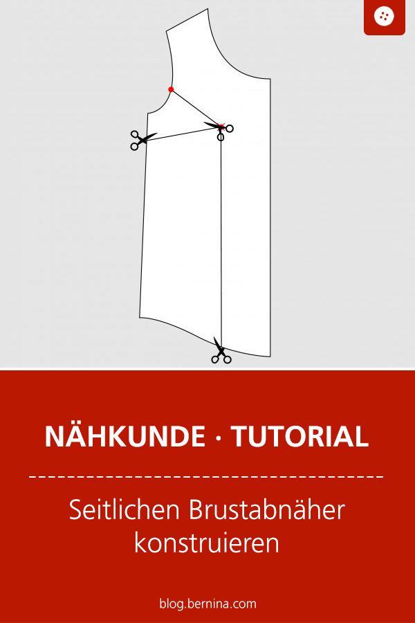 Wie konstruiert man eigentlich ... einen seitlichen Brustabnäher? #shirtschnittmuster