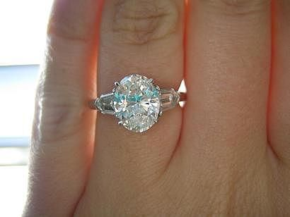 Oval Engagement Rings With Side Stones Wedding Bands 32 He Asked