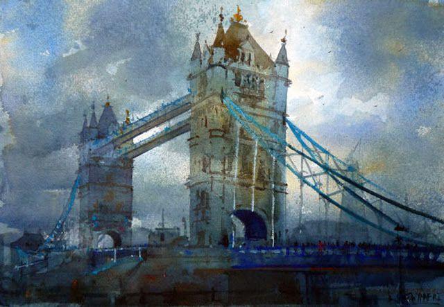 Geoffrey Wynne Acuarelas - Watercolours: Inglaterra - England