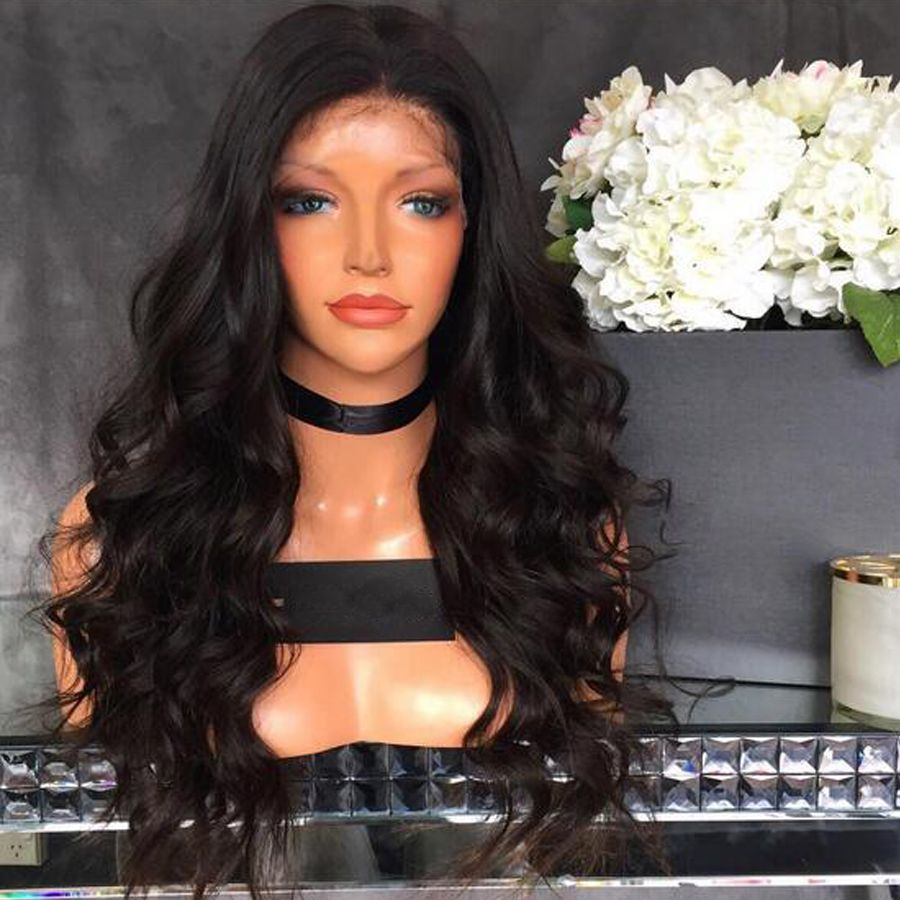 Alice loose wave full lace human hair wigs for black women wavy