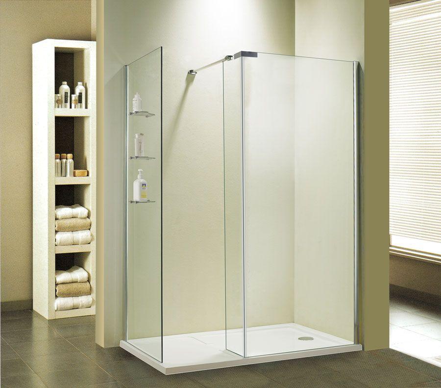 Beispiel Duschabtrennung Walk in dusche, Dusche
