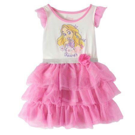 4e18c088a6af Tangled Little Girls  4-6X Rapunzel Dreamer Tiered Tutu Dress