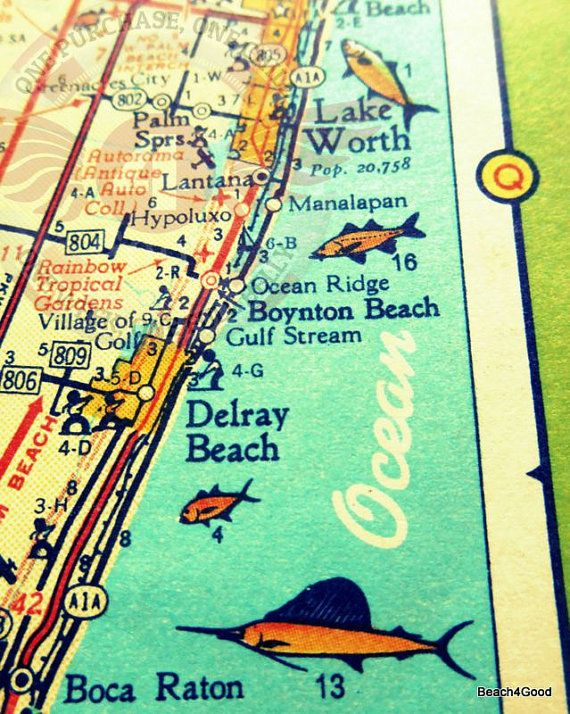 Delray Beach Florida Map.Delray Beach Map Florida Map Art In 2018 Images Pinterest