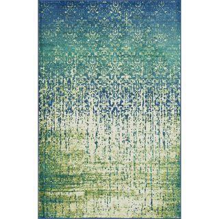 @Overstock   Skye Monet Blue Cascade Rug (5u00272 X 7u00277