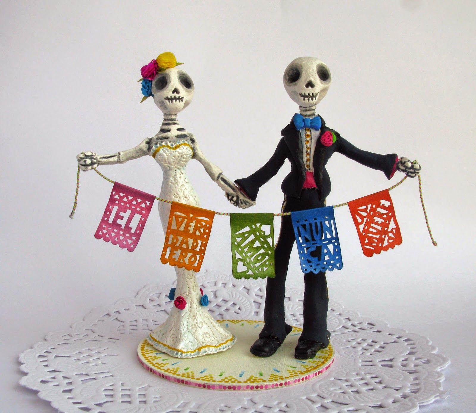 folk skeleton cake topper - Google Search   wedding cake   Pinterest ...