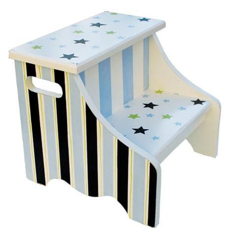 Prime Green Stars Stripes Step Stool Wood Crafts Stool Ibusinesslaw Wood Chair Design Ideas Ibusinesslaworg
