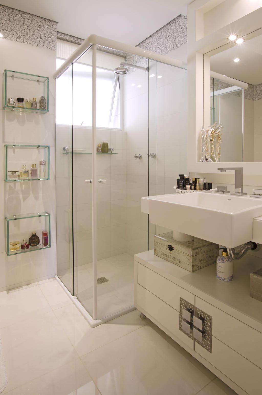 Dica Quem tem banheiro pequeno deve investir, de preferência, em um box de v -> Nicho Para Box Banheiro Pequeno