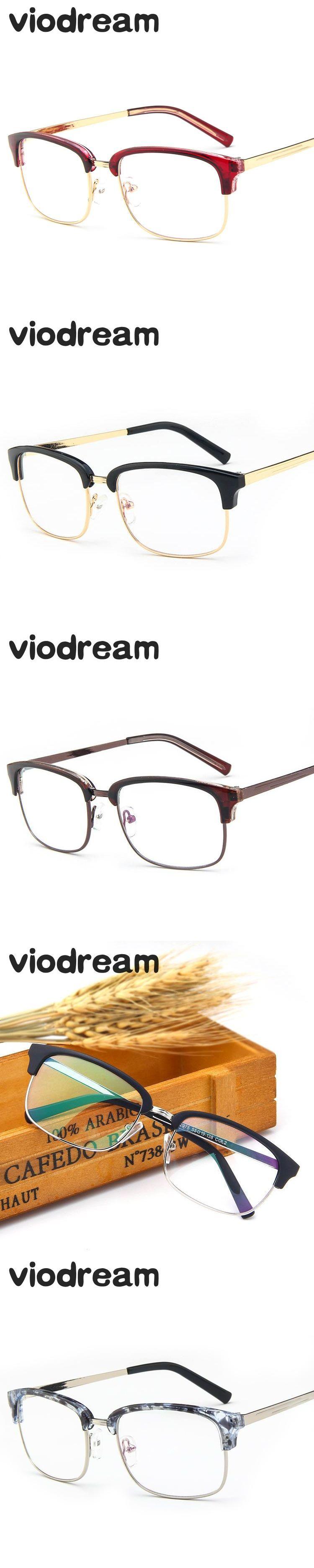 06737d22f66 Eyeglasses · Viodream Plastic Titanium Fashion Half Glasses Frame Optical  Glasses Frame Prescription Eyewear Reading Glasses Oculos De