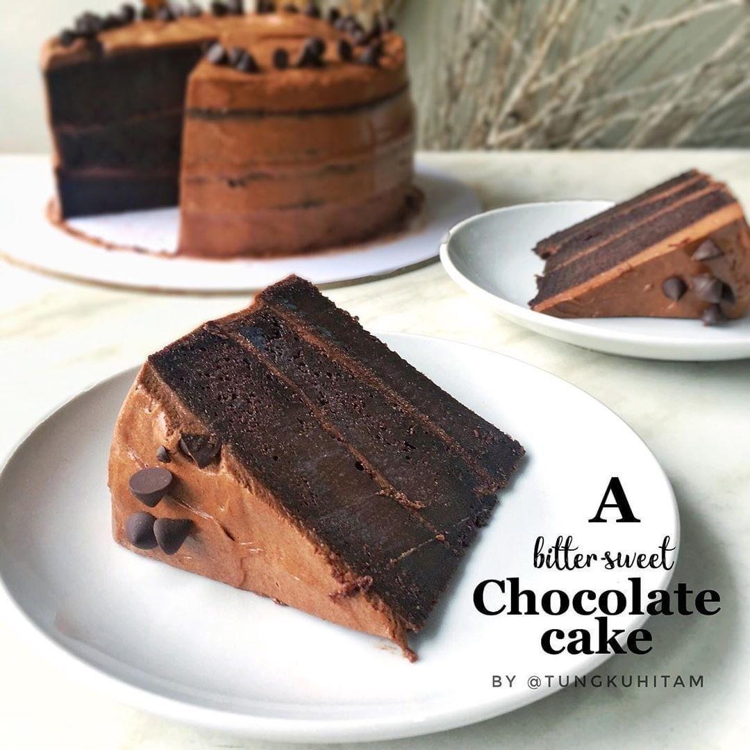 Resep Kue Jajanan Pasar Di Instagram Sebelum Baca Resep Pencet Love Dulu Ya Chocolate Cake By Tungkuhitam Ini Resep Kue