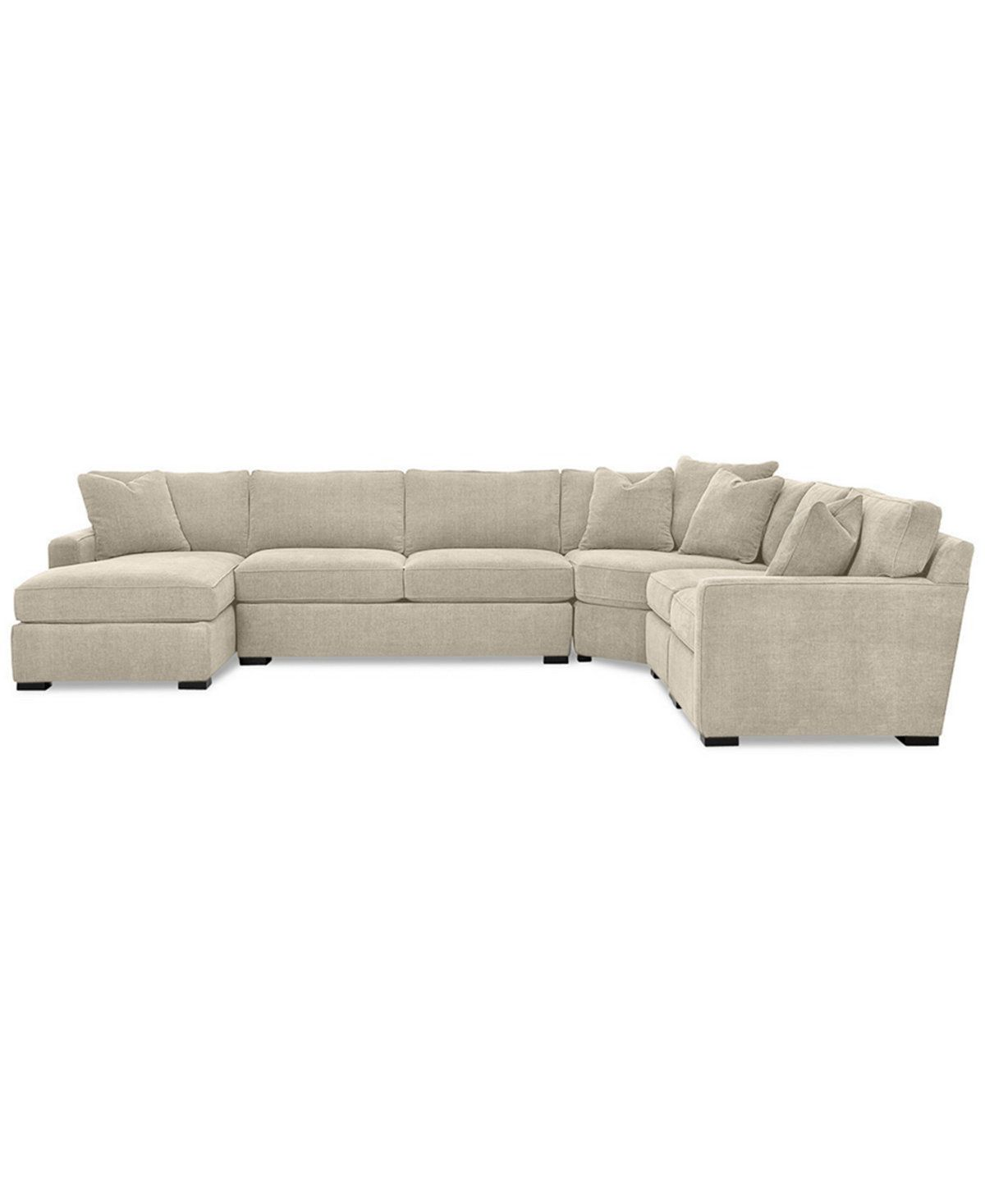 Best Furniture Radley 5 Piece Fabric Chaise Sectional Sofa 640 x 480