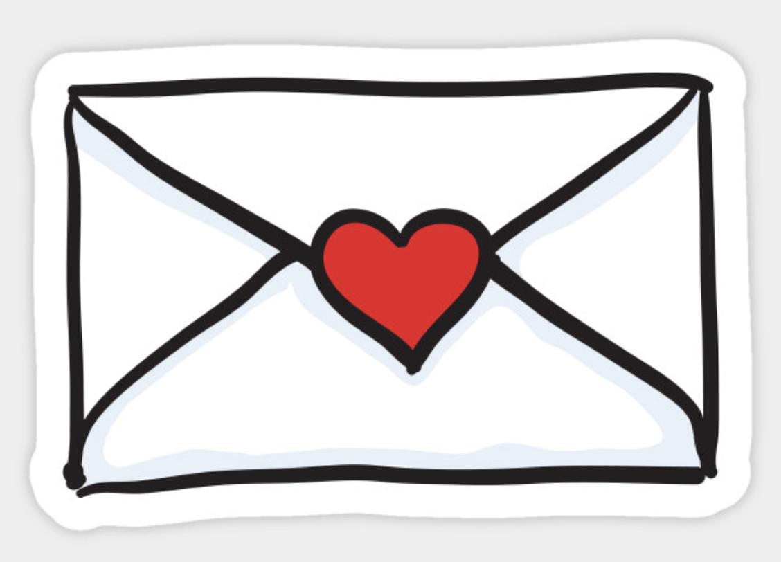 Love Letter Sticker Surat Cinta Ilustrasi Stiker