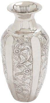 Deco 79 Aluminum Flower Vase, 9 by 18-Inch