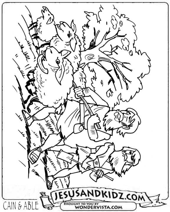Cain and Abel Coloring Sheet - Jesus and Kidz - The World's number One Children's Bible Story site