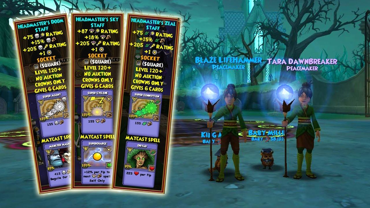 Wizard101: ALL Professor's Hoard Pack Maycast Wands