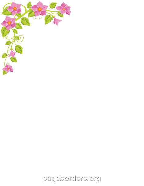 Printable flower corner border. Use the border in ...