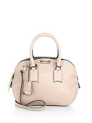 Burberry Small Orchard Satchel  LOVE the baby pink color and cute design. very springy !